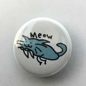 "Blue Cat 1.25"" Button"