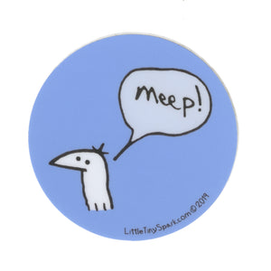 Blue Meep Sticker