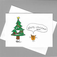 Load image into Gallery viewer, Christmas Tree Meow Card