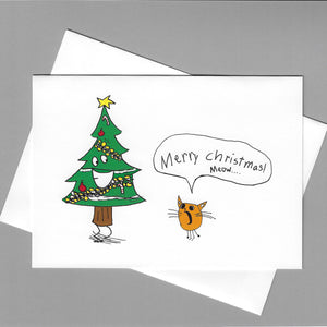 Christmas Tree Meow Card