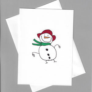 Snowman with Red Hat Card