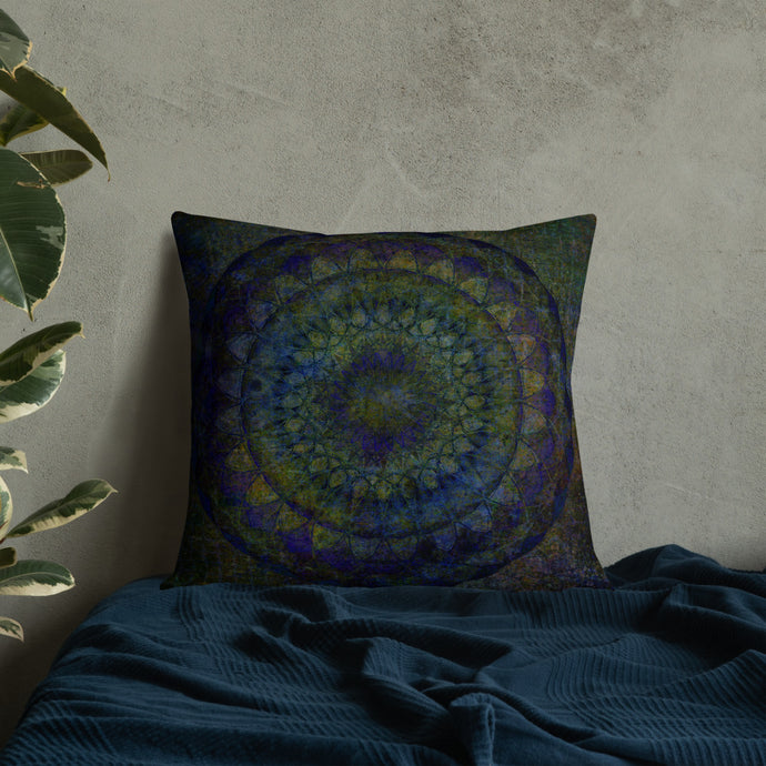Peacock Mandala Premium Pillow