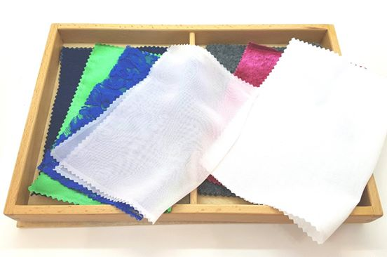 Set of 8 Tactile Fabric Box