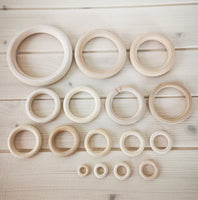 Wooden Rings Set of 16