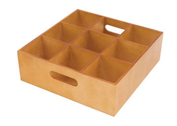 Wooden Sorting Tray 9 Holes