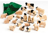 Farm Animals in Natural Wood