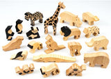 Wild Animals in Natural Wood