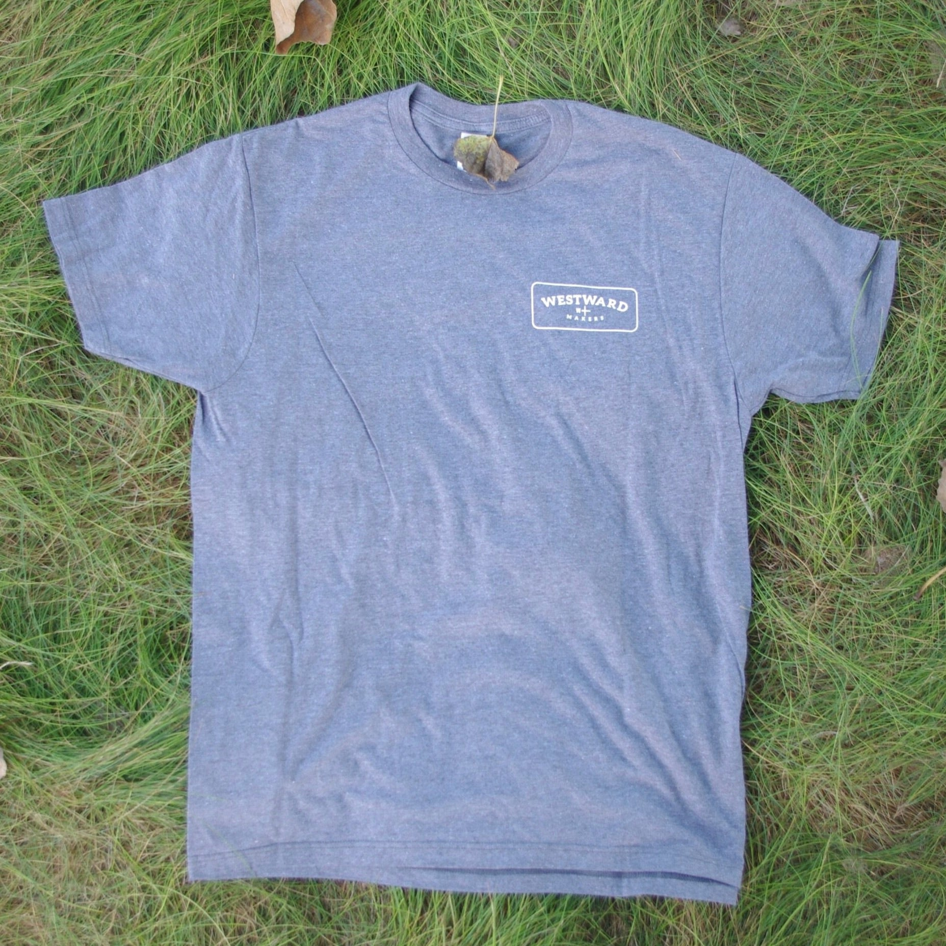 Westward Makers Classic Men's T-Shirt Grey with Pocket Logo Design