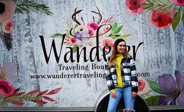 Wanderer Traveling Boutique Trailer and Owner