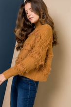 Load image into Gallery viewer, Luxurious Camel Fringed Turtleneck - Wanderer Traveling Boutique