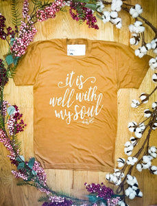 """It is well with my soul"" - Graphic T-Shirt - Wanderer Traveling Boutique"