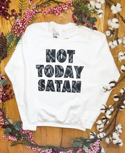 "Load image into Gallery viewer, ""Not Today Satan"" (Snakeskin) - Graphic Sweatshirt - Wanderer Traveling Boutique"