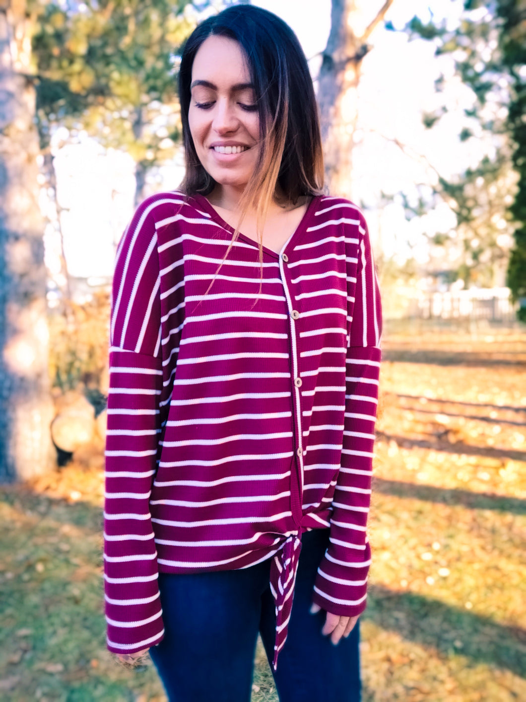 Relaxed Burgundy Button Down - Wanderer Traveling Boutique