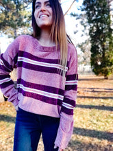 Load image into Gallery viewer, Cool Chenille Mauve Sweater - Wanderer Traveling Boutique