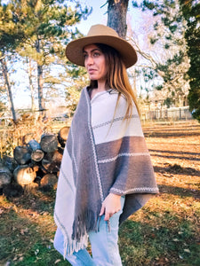 Western Sand Dune Poncho - Wanderer Traveling Boutique
