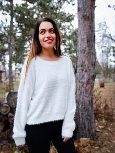 Sweet Winter White Sweater - Wanderer Traveling Boutique