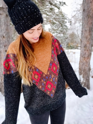Navajo Print Sweater - Wanderer Traveling Boutique