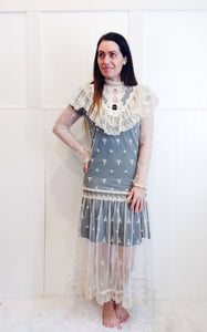 Edwardian Inspired 80's Lace Overlay - Wanderer Traveling Boutique
