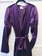 Load image into Gallery viewer, Deep Purple Velour Robe - Wanderer Traveling Boutique