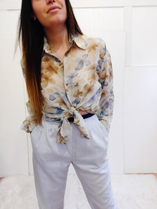 Authentic Vintage 90'Sheer Floral Blouse - Wanderer Traveling Boutique