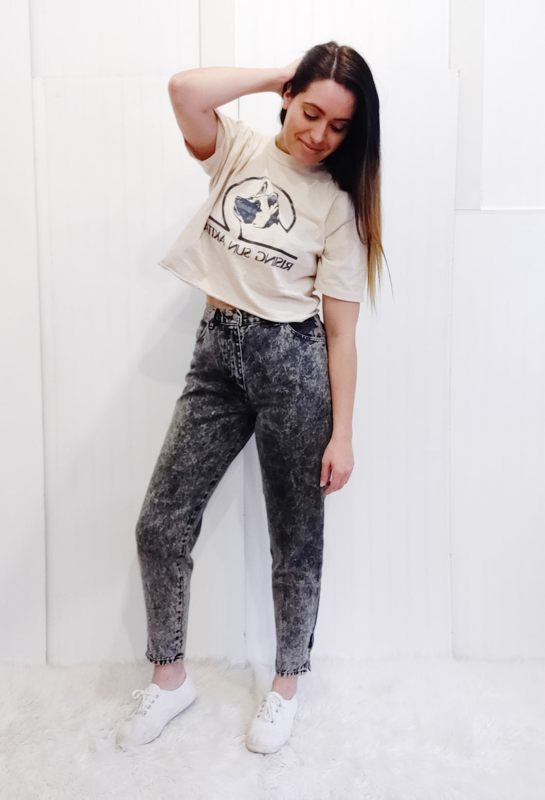 'Arlie' Acid Wash Jeans - Wanderer Traveling Boutique