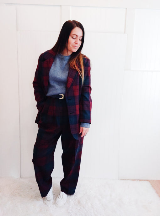 'Penny' Plaid Suit - Wanderer Traveling Boutique