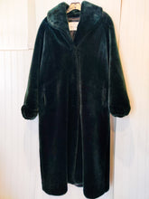 Load image into Gallery viewer, 'Edy' Emerald Green Faux Fur Coat - Wanderer Traveling Boutique