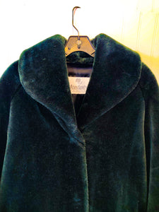 'Edy' Emerald Green Faux Fur Coat - Wanderer Traveling Boutique
