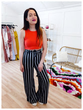 Load image into Gallery viewer, Black & White Striped Pant - Wanderer Traveling Boutique