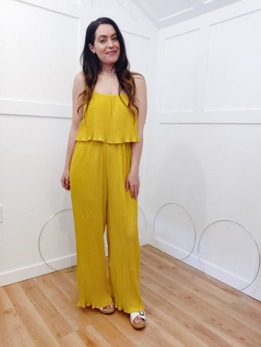 Chic Mustard Jumpsuit - Wanderer Traveling Boutique
