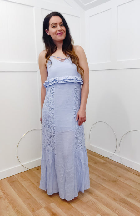 Sky Blue Lace Maxi - Wanderer Traveling Boutique