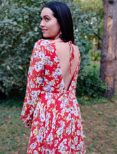 Load image into Gallery viewer, Groovy Floral Dress - Wanderer Traveling Boutique