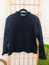 Load image into Gallery viewer, Onyx Waffle Knit 90's Mock Neck - Wanderer Traveling Boutique
