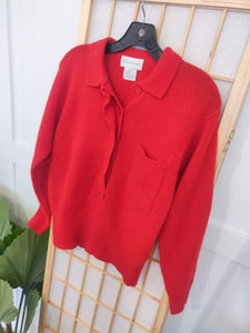 Cardinal Red 80's Sweater - Wanderer Traveling Boutique