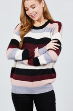 Load image into Gallery viewer, Plush Striped Sweater - Wanderer Traveling Boutique