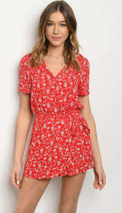 Playful Red Paisley Romper - Wanderer Traveling Boutique