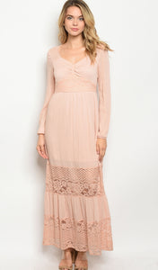 Sweet Bohemian Pink Maxi - Wanderer Traveling Boutique