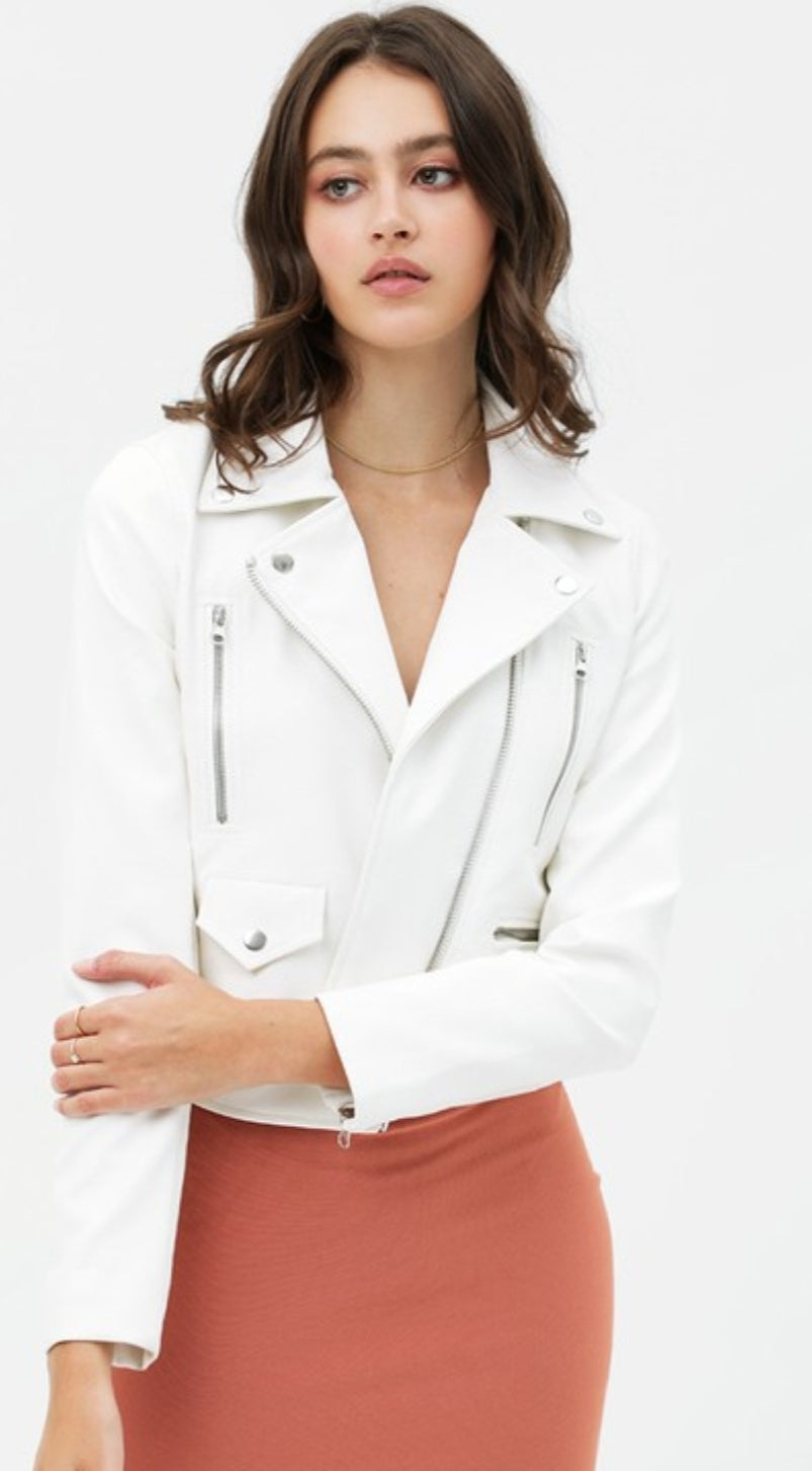 Super Chic Faux Leather Jacket - Wanderer Traveling Boutique