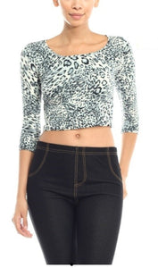 Leopard Scoop Neck - Wanderer Traveling Boutique