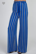 Load image into Gallery viewer, Cobalt Blue Striped Pant - Wanderer Traveling Boutique