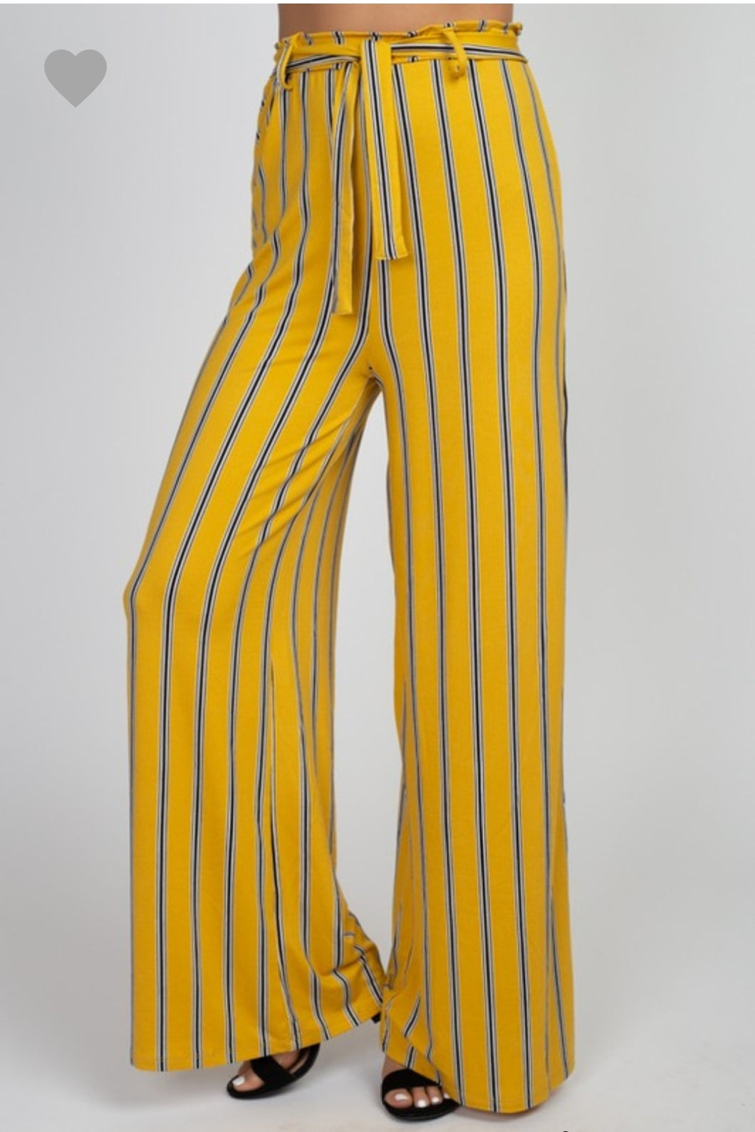 Mustard Striped Pant - Wanderer Traveling Boutique
