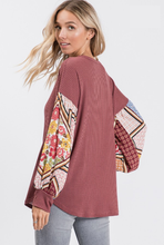 Load image into Gallery viewer, Effortless Mauve Boho Sleeve Top - Wanderer Traveling Boutique