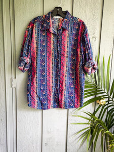 Western Button Up - Vintage - Wanderer Traveling Boutique