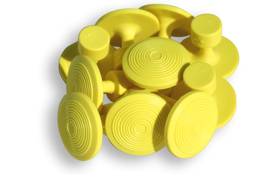 10 Pack of Large Yellow Glue Tabs