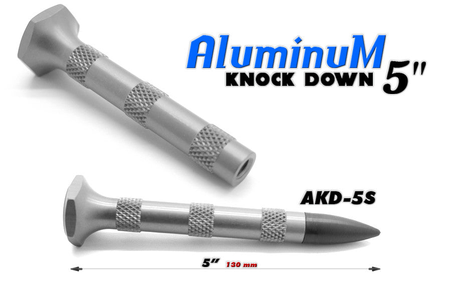"Aluminum Knock Down 5"" Silver"