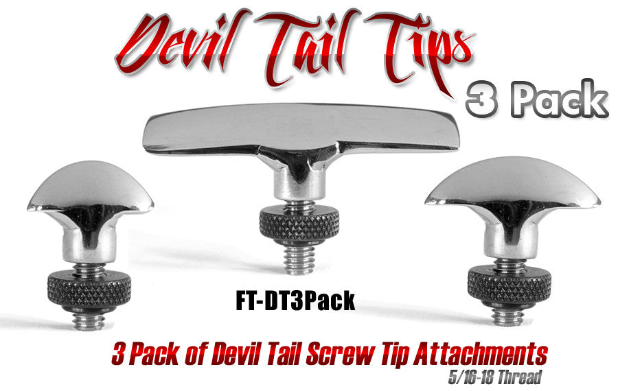 Screw Tip Devil Tail 3 Pack