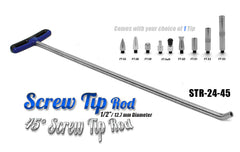 "Screw Tip Rod 24"" 45 Degree"