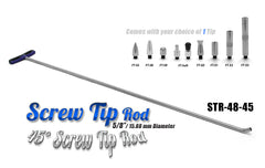 "Screw Tip Rod 48"" 45 Degree"