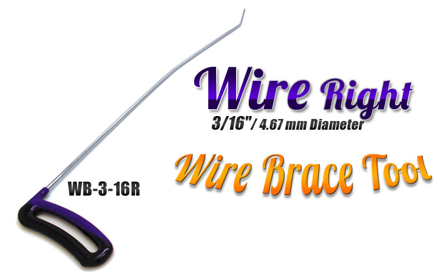"DISCONTINUED!!! GET IT WHILE YOU CAN!!! Brace Wire Tool 3/16"" x 16"" Right"
