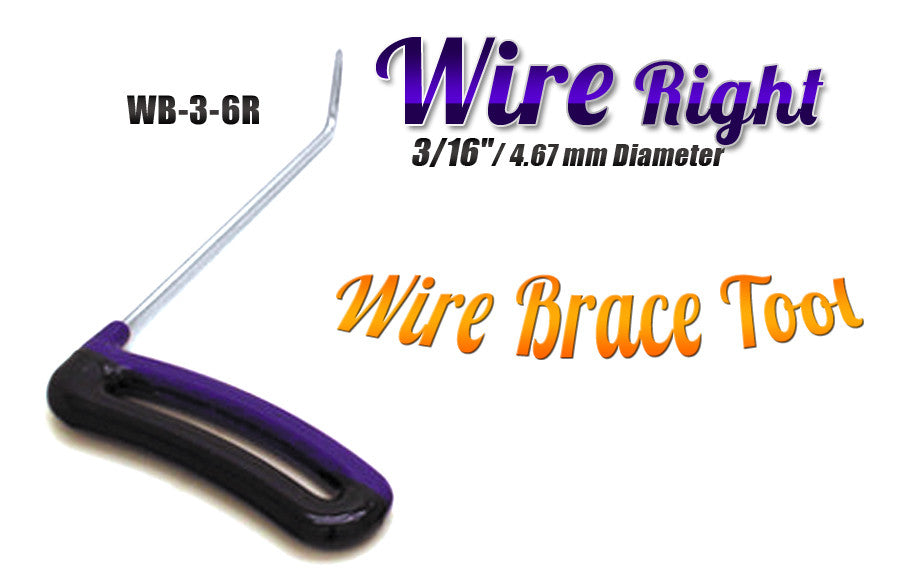 "DISCONTINUED!!! GET IT WHILE YOU CAN!!! Brace Wire Tool 3/16"" x 6"" Right"